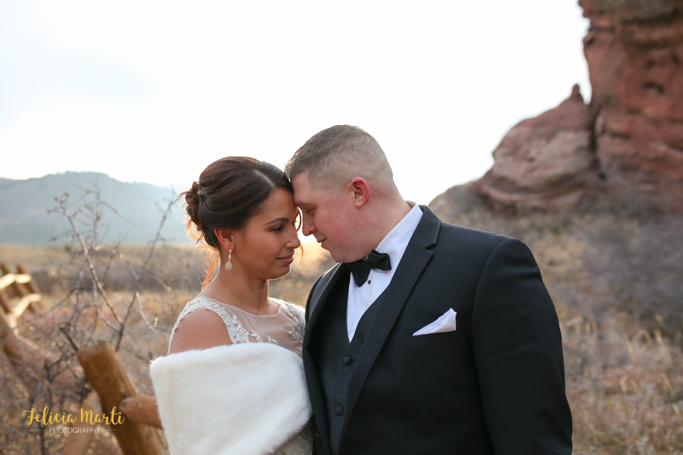Winter Elopement | A private and beautiful wedding in Red Rocks, Colorado