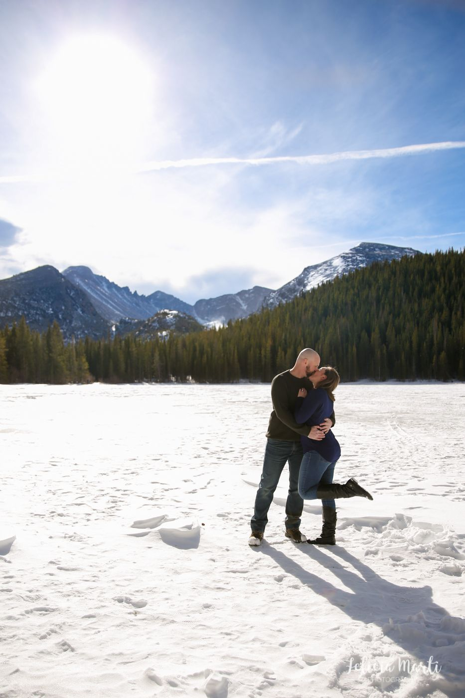 Cups of Coffee and Lots of Snow | RMNP Engagement Session